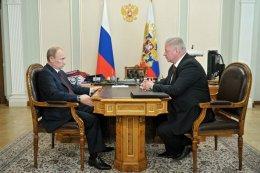 Президент России В.В.Путин встретился с Председателем ФНПР М.В.Шмаковым
